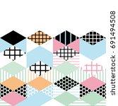 card banner template geometric... | Shutterstock .eps vector #691494508