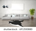 mock up a spacious living room... | Shutterstock . vector #691500880