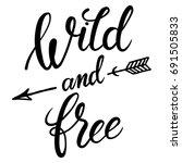 wild and free hand brush...   Shutterstock .eps vector #691505833