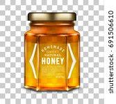 vector labeled hexagonal glass... | Shutterstock .eps vector #691506610
