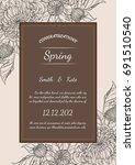 chrysanthemum vector card on... | Shutterstock .eps vector #691510540