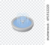 isolated fountain isometric.... | Shutterstock .eps vector #691512220