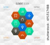 transportation outline icons... | Shutterstock .eps vector #691517488