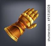 gold fantasy armor hand glove... | Shutterstock .eps vector #691518328