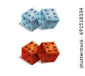 dice casino gambling on white... | Shutterstock .eps vector #691518334