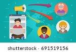vector horizontal banner.... | Shutterstock .eps vector #691519156