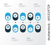 industry colorful icons set.... | Shutterstock .eps vector #691519729