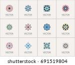 geometric logo template set....   Shutterstock .eps vector #691519804