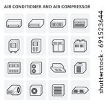 vector icon of air conditioner... | Shutterstock .eps vector #691523644