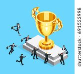 business competition concept.... | Shutterstock .eps vector #691523998