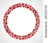 round hearts frame valentine's... | Shutterstock .eps vector #69152725