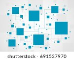 abstract tech background.... | Shutterstock .eps vector #691527970