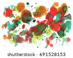 abstract watercolor background. ... | Shutterstock . vector #691528153