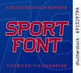 sport alphabet vector font.... | Shutterstock .eps vector #691529794