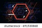 tech futuristic abstract... | Shutterstock .eps vector #691530868