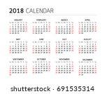 calendar year on white... | Shutterstock .eps vector #691535314