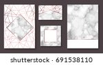 marble brochure layout ... | Shutterstock .eps vector #691538110