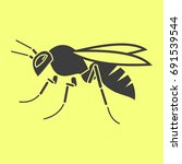 wasp icon | Shutterstock .eps vector #691539544