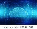 2d rendering cloud computing ... | Shutterstock . vector #691541389