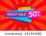 sale sign banner poster ready... | Shutterstock . vector #691542580