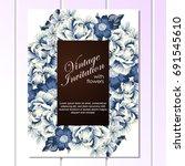 romantic invitation. wedding ...   Shutterstock . vector #691545610