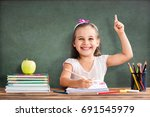 back to school concept  happy... | Shutterstock . vector #691545979