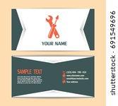 business cards design vector... | Shutterstock .eps vector #691549696