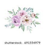 painted watercolor composition... | Shutterstock . vector #691554979