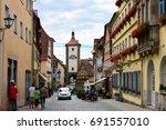 rothenburg ob der tauber ... | Shutterstock . vector #691557010