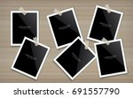 blank photo frame or picture... | Shutterstock .eps vector #691557790