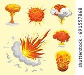 cartoon explosion boom effect