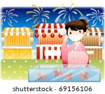 happy travel with good feeling | Shutterstock .eps vector #69156106