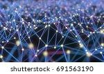 plexus background  abstract 3d... | Shutterstock . vector #691563190
