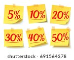 discount percent tag  5   10  ... | Shutterstock .eps vector #691564378