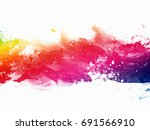 abstract artistic watercolor... | Shutterstock . vector #691566910