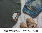 men casual outfit and... | Shutterstock . vector #691567438