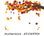 abstract autumnal background... | Shutterstock .eps vector #691569904