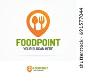 food point logo set consisting... | Shutterstock . vector #691577044