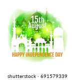 happy india independence day.... | Shutterstock .eps vector #691579339
