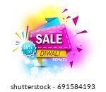 diwali big sale offer template... | Shutterstock .eps vector #691584193