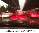 traffic jam with blur... | Shutterstock . vector #691586953