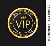 vip membership gold badge ... | Shutterstock .eps vector #691588414