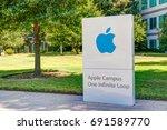 cupertino  ca usa   july 29 ... | Shutterstock . vector #691589770