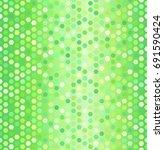 glowing hexagon pattern.... | Shutterstock .eps vector #691590424