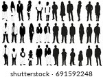 vector isolated set of black... | Shutterstock .eps vector #691592248