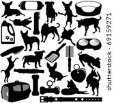 Silhouettes Vector Of Dogs ...