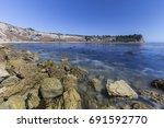 lunada bay with motion blur... | Shutterstock . vector #691592770