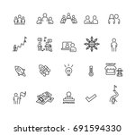 meeting and business icons set... | Shutterstock .eps vector #691594330