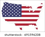 united states of america map... | Shutterstock .eps vector #691596208