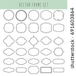 frames vector clip art set.... | Shutterstock .eps vector #691603864